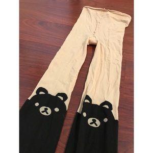 Cute bear tights